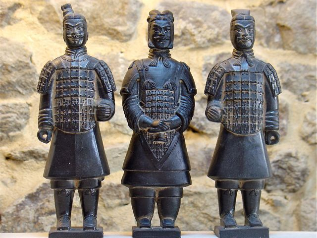 statue soldat chinois