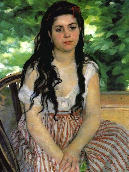 Auguste Renoir Lise Ou La Bohemienne Tableau De Grands Peintres Et Peinture De Renoir