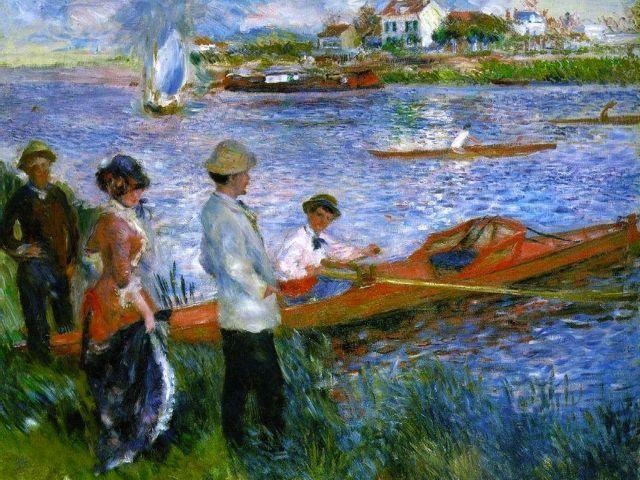 Auguste Renoir Les Canotiers A Chatou Tableau De Renoir Et Peinture De Renoir