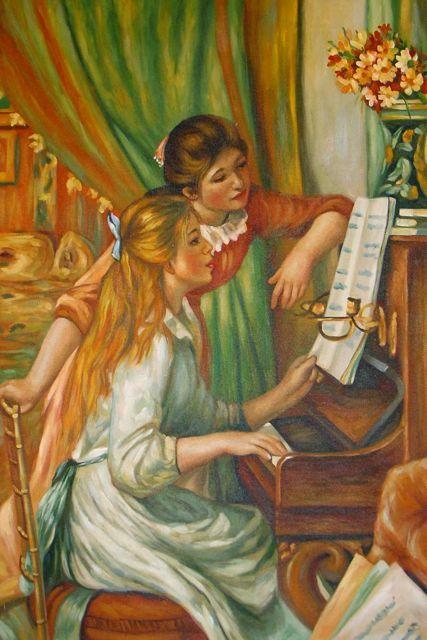 Auguste Renoir, Les jeunes filles au piano : tableau de GRANDS PEINTRES et peinture de Renoir