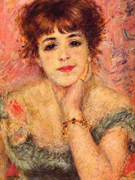 Auguste Renoir, Portrait de Jeanne Samary : tableau de PEINTURES et peinture de Tableaux Figuratifs