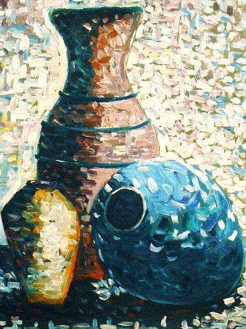 M diterran e carafes et vases tableau de peintures et peinture de tableaux - Peinture a l huile prix ...
