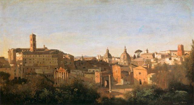 Camille Corot, Rome le Forum : tableau de et peinture de Corot