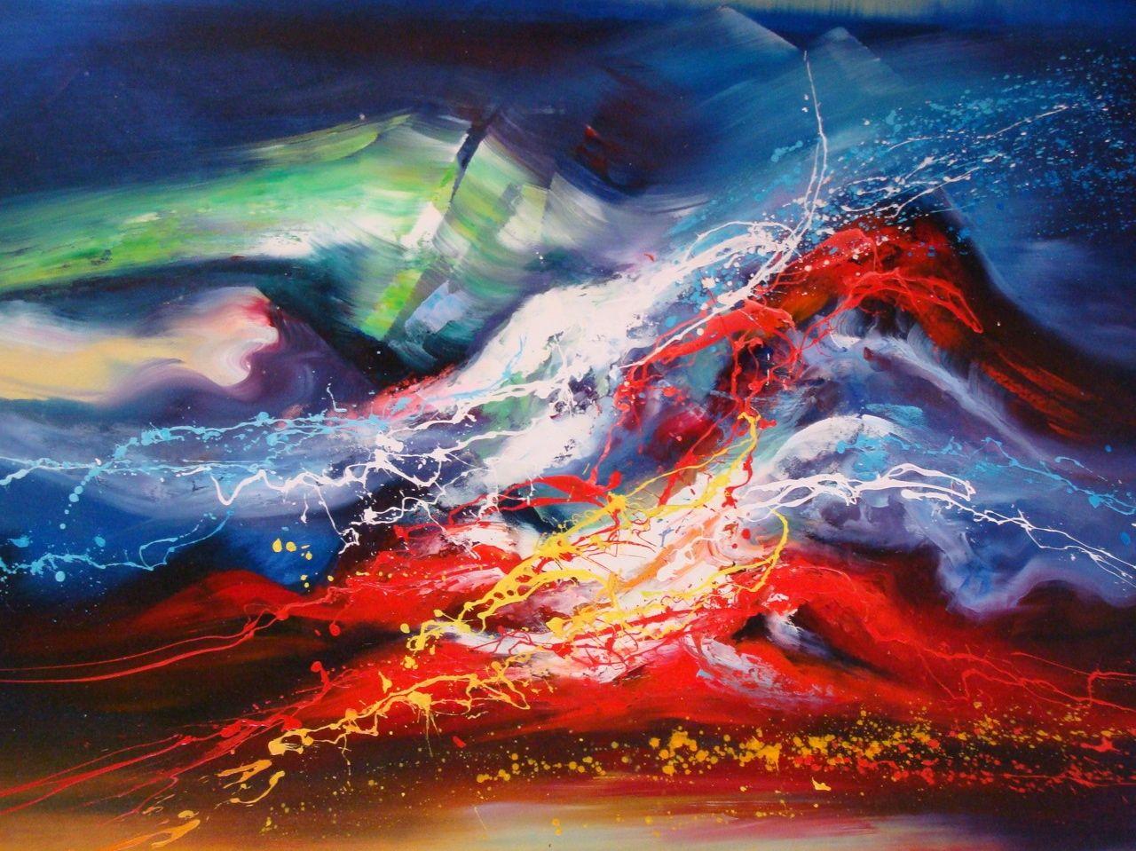 Mers et oc ans d luge tableau de peintures et peinture - Agrandir piece avec peinture ...