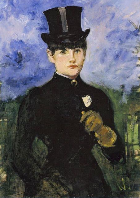 Edouard Manet, L'amazone : tableau de GRANDS PEINTRES et peinture de Manet