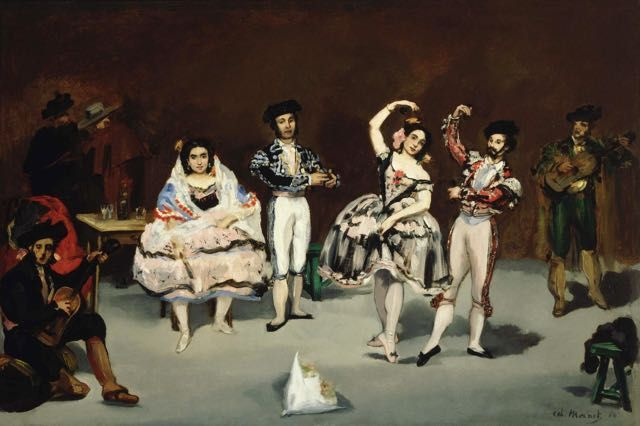 Edouard Manet Le Ballet Espagnol Tableau De Grands Peintres Et Peinture De Manet