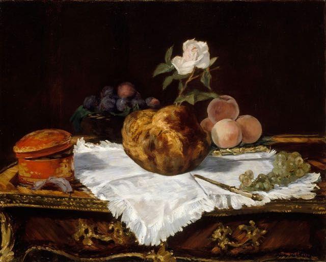 Edouard Manet, La brioche : tableau de GRANDS PEINTRES et peinture de Manet