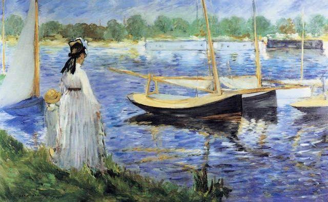 Edouard Manet, La Seine à Argenteuil : tableau de GRANDS PEINTRES et peinture de Manet