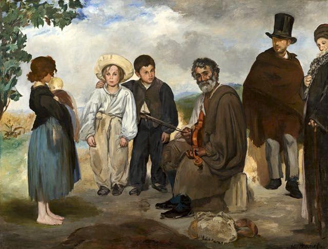 Edouard Manet, Le vieux musicien : tableau de et peinture de Manet