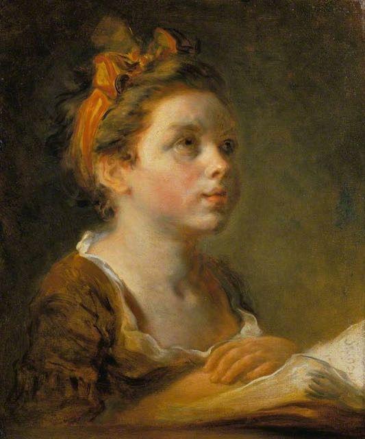 Jean-Honoré Fragonard, jeune écolière : tableau de GRANDS PEINTRES et peinture de Fragonard