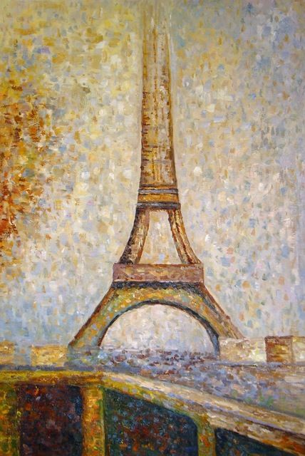 georges seurat la tour eiffel tableau de grands peintres et peinture de seurat. Black Bedroom Furniture Sets. Home Design Ideas