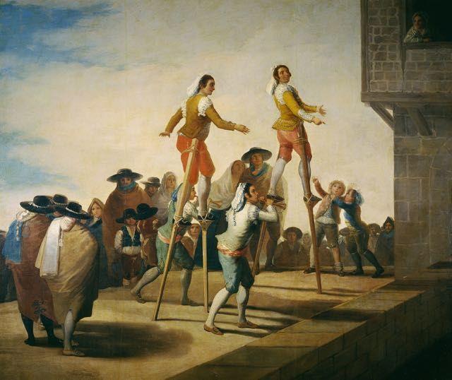 Francisco De Goya Les Echasses Tableau De Et Peinture De Goya