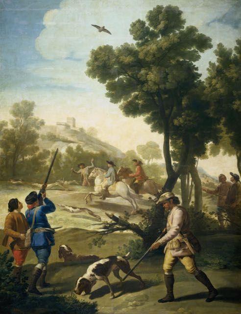 Francisco De Goya La Partie De Chasse Tableau De Et Peinture De Goya