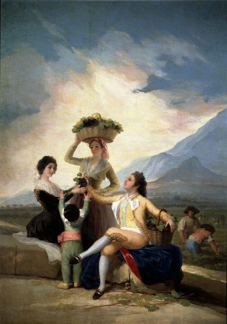 Francisco De Goya L Automne Ou Les Vendanges Tableau De Et Peinture De Goya