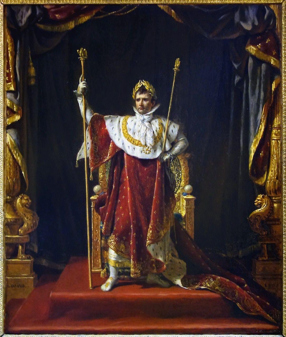 Jacques Louis David Napoleon En Costume Imperial Tableau De Et Peinture De David
