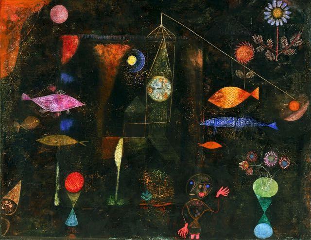 Paul klee magie poissons tableau de grands peintres et - Tableau de maitre reproduction ...