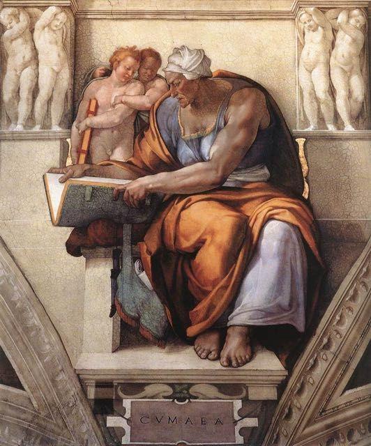 Michel Ange La Sibylle De Cumes Tableau De Grands Peintres Et Peinture De Michel Ange