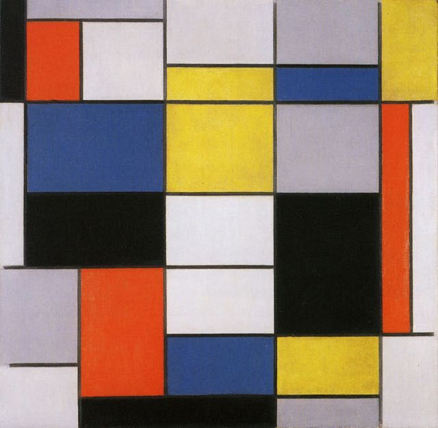 piet mondrian composition a 1923 tableau de grands peintres et peinture de mondrian. Black Bedroom Furniture Sets. Home Design Ideas
