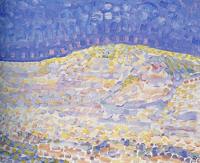 Piet mondrian dune ii tableau de grands peintres et peinture de mondrian for Peinture de qualite