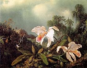 Martin Johnson Heade, Colibris et Orchid�es - GRANDS PEINTRES / Heade