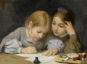 Albert Anker, Enseignement de l'écriture - GRANDS PEINTRES / Anker
