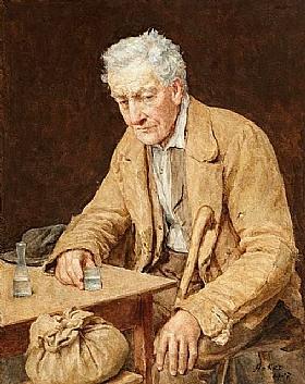 Albert Anker, Le buveur d'absinthe - GRANDS PEINTRES / Anker