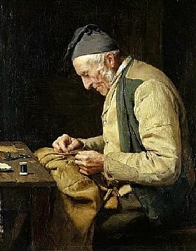 Albert Anker, Le tailleur du village - GRANDS PEINTRES / Anker