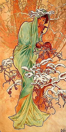 Alfons Mucha, Hiver - GRANDS PEINTRES / Mucha