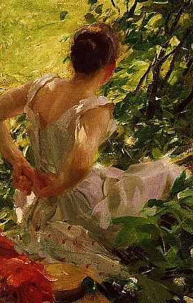 Anders Zorn, Femme se rhabillant - GRANDS PEINTRES / Zorn