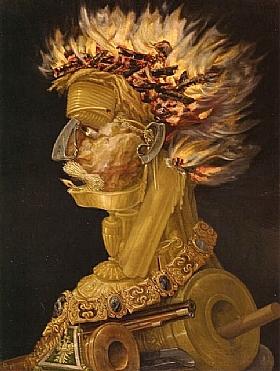 Giuseppe Arcimboldo, Le feu - GRANDS PEINTRES / Arcimboldo