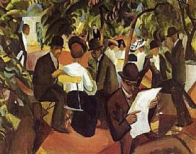 August Macke, Le jardin du restaurant - GRANDS PEINTRES / Macke