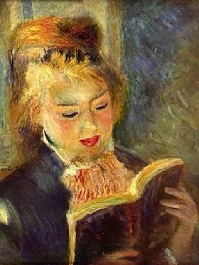 Auguste Renoir, Jeune fille lisant - GRANDS PEINTRES / Renoir