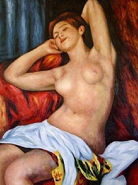 Auguste Renoir, Baigneuse endormie-GRANDS PEINTRES-Renoir