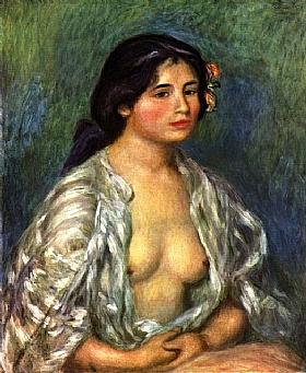 Auguste Renoir, Gabrielle à la chemise ouverte - GRANDS PEINTRES / Renoir