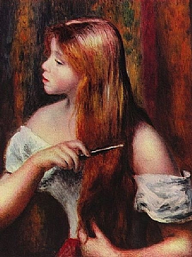 Auguste Renoir, Jeune fille coiffant ses cheveux - GRANDS PEINTRES / Renoir