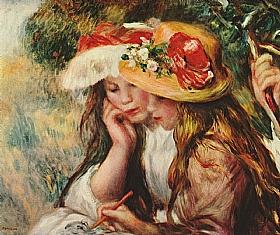 Auguste Renoir, jeunes lectrices - GRANDS PEINTRES / Renoir