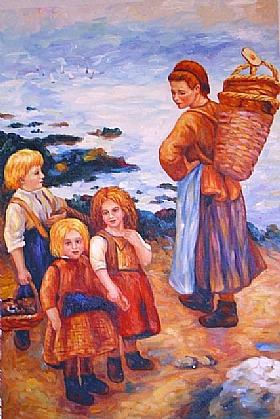 Auguste Renoir, pêcheuses à Berneval - GRANDS PEINTRES / Renoir