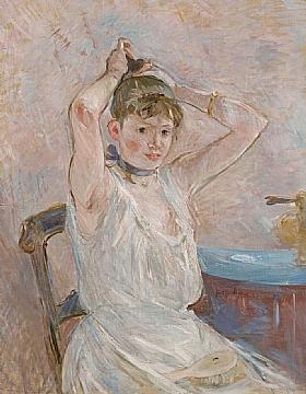 Berthe Morisot, Jeune fille au bain - GRANDS PEINTRES / Morisot