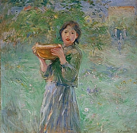 Berthe Morisot, Le bol de lait - GRANDS PEINTRES / Morisot