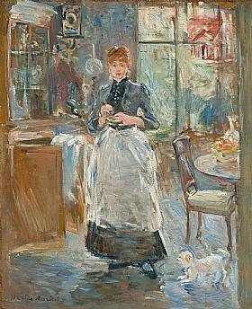 Berthe Morisot, Dans la salle à manger - GRANDS PEINTRES / Morisot
