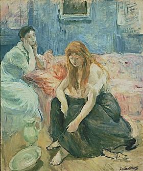 Berthe Morisot, Deux Jeunes filles - GRANDS PEINTRES / Morisot