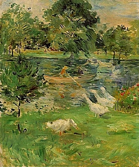 Berthe Morisot, jeune fille dans un bateau - GRANDS PEINTRES / Morisot