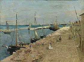 Berthe Morisot, Le port de Cherbourg - GRANDS PEINTRES / Morisot