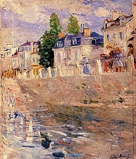 Berthe Morisot, Les quais a Bougival - GRANDS PEINTRES / Morisot