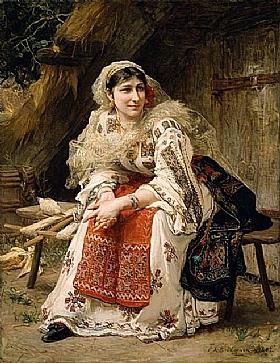Arthur Frederick Bridgman, Femme Arménienne - GRANDS PEINTRES / Bridgman