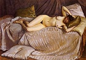 Gustave Caillebotte, Femme nue étendue - GRANDS PEINTRES / Caillebotte