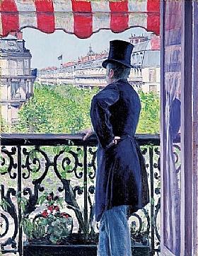 Gustave Caillebotte, Homme au balcon - GRANDS PEINTRES / Caillebotte