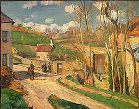 Camille Pissarro, Carrefour à l'Hermitage - GRANDS PEINTRES / Pissarro
