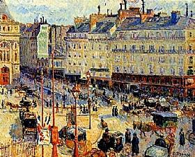 Camille Pissarro, Place du Havre à Paris - GRANDS PEINTRES / Pissarro