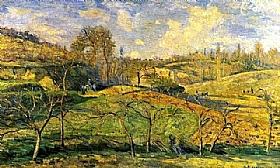 Camille Pissarro, Soleil de mars - Pontoise - GRANDS PEINTRES / Pissarro
